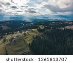 aerial view of carpathian... | Shutterstock . vector #1265813707