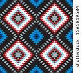 seamless pattern turkish carpet ... | Shutterstock . vector #1265819584
