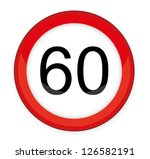 speed limit glossy sign vector... | Shutterstock .eps vector #126582191