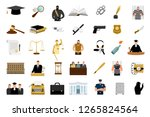 justice flat icons. criminal... | Shutterstock .eps vector #1265824564