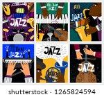 jazz banners. jazz music vector ... | Shutterstock .eps vector #1265824594