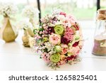 Happy Bridal Bouquet With Pink...