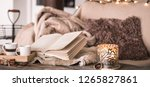 still life home atmosphere in... | Shutterstock . vector #1265827861