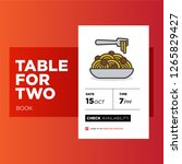 book a table app with pasta...