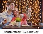 romantic evening date in... | Shutterstock . vector #126585029