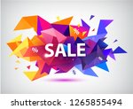 raster copy sale faceted 3d... | Shutterstock . vector #1265855494