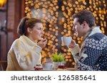 romantic evening date in... | Shutterstock . vector #126585641