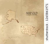 old usa map with vintage paper... | Shutterstock .eps vector #1265861971