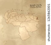 old venezuela map with vintage... | Shutterstock .eps vector #1265862001