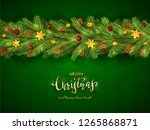 holiday decorations with... | Shutterstock . vector #1265868871