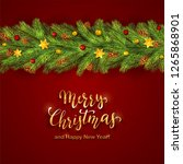 holiday decorations with... | Shutterstock . vector #1265868901
