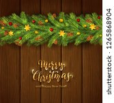 holiday decorations with... | Shutterstock . vector #1265868904