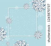 winter poster with frame with... | Shutterstock .eps vector #1265870737