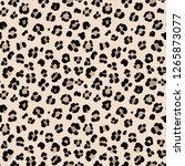 animal leopard seamless hand... | Shutterstock . vector #1265873077