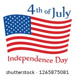 usa independence day 4 th of... | Shutterstock .eps vector #1265875081