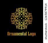 art deco golden luxury antique... | Shutterstock .eps vector #1265879914