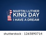 martin luther king day blue... | Shutterstock .eps vector #1265890714