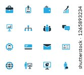 business icons colored set with ... | Shutterstock .eps vector #1265893234