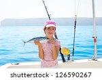 Child Little Girl Fishing In...