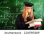 graduating student girl in an... | Shutterstock . vector #126590369