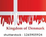 flag of denmark  kingdom of... | Shutterstock .eps vector #1265905924