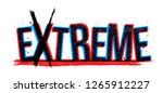 extreme word vector  creative...   Shutterstock .eps vector #1265912227