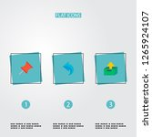 set of task manager icons flat... | Shutterstock .eps vector #1265924107
