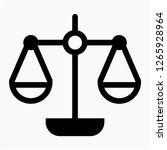outline weight balance pixel... | Shutterstock .eps vector #1265928964
