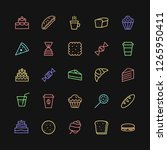 bakery icons set simple line... | Shutterstock .eps vector #1265950411