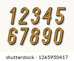 numbers set bold trendy... | Shutterstock .eps vector #1265950417