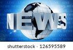 Global News Concept Image. ...