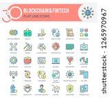 set of modern icons of... | Shutterstock .eps vector #1265970967