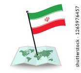 map with flag of iran isolated... | Shutterstock .eps vector #1265976457