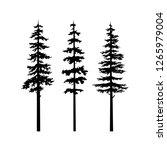 black tree silhouette vector ... | Shutterstock .eps vector #1265979004