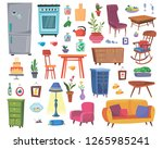 large set of furniture and... | Shutterstock .eps vector #1265985241