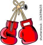 vector boxing gloves   Shutterstock .eps vector #126598655