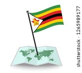 map with flag of zimbabwe... | Shutterstock .eps vector #1265989177