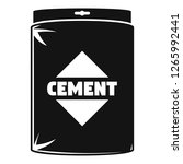 cement bag icon. simple... | Shutterstock .eps vector #1265992441