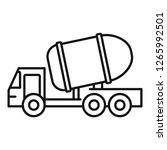cement truck icon. outline... | Shutterstock .eps vector #1265992501