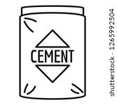 cement bag icon. outline cement ... | Shutterstock .eps vector #1265992504