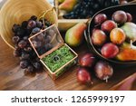 wedding rings are in the plate... | Shutterstock . vector #1265999197