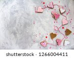 valentine's day with a hearts ... | Shutterstock . vector #1266004411