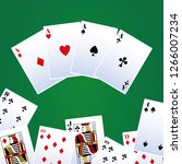 poker leisure cards | Shutterstock .eps vector #1266007234