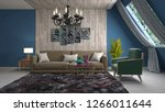 interior of the living room. 3d ... | Shutterstock . vector #1266011644