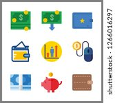 cash icon. pay per click and... | Shutterstock .eps vector #1266016297