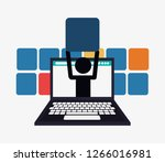person with workforce related... | Shutterstock .eps vector #1266016981