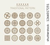 various korean traditional... | Shutterstock .eps vector #1266017251