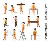 construction workers avatar | Shutterstock .eps vector #1266020194