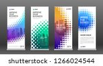 real estate roll up banners... | Shutterstock .eps vector #1266024544