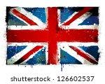 grungy uk flag. eps 8 vector... | Shutterstock .eps vector #126602537